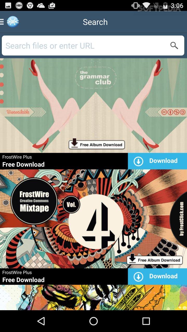 FrostWire 2 0 9 APK Download