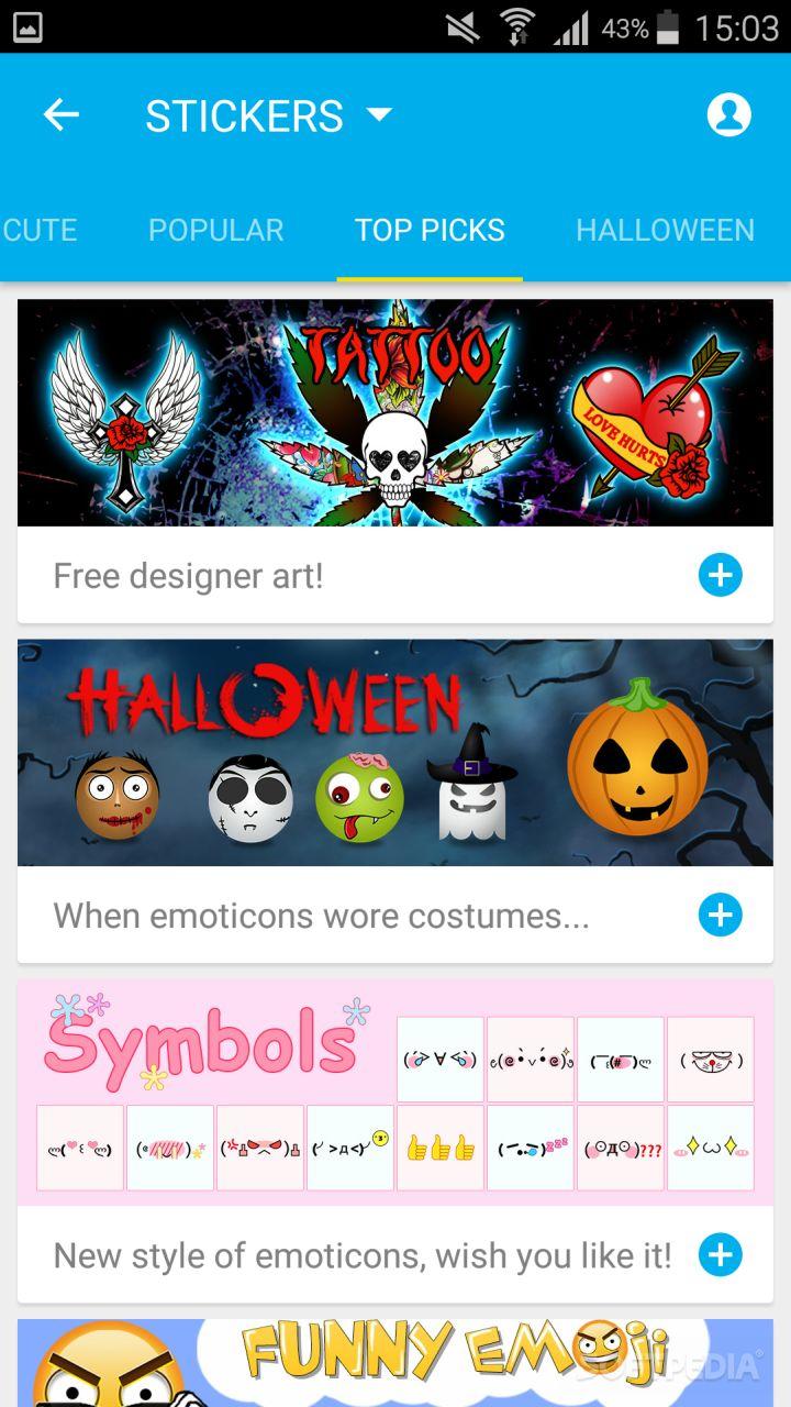 download go keyboard emoticon apk