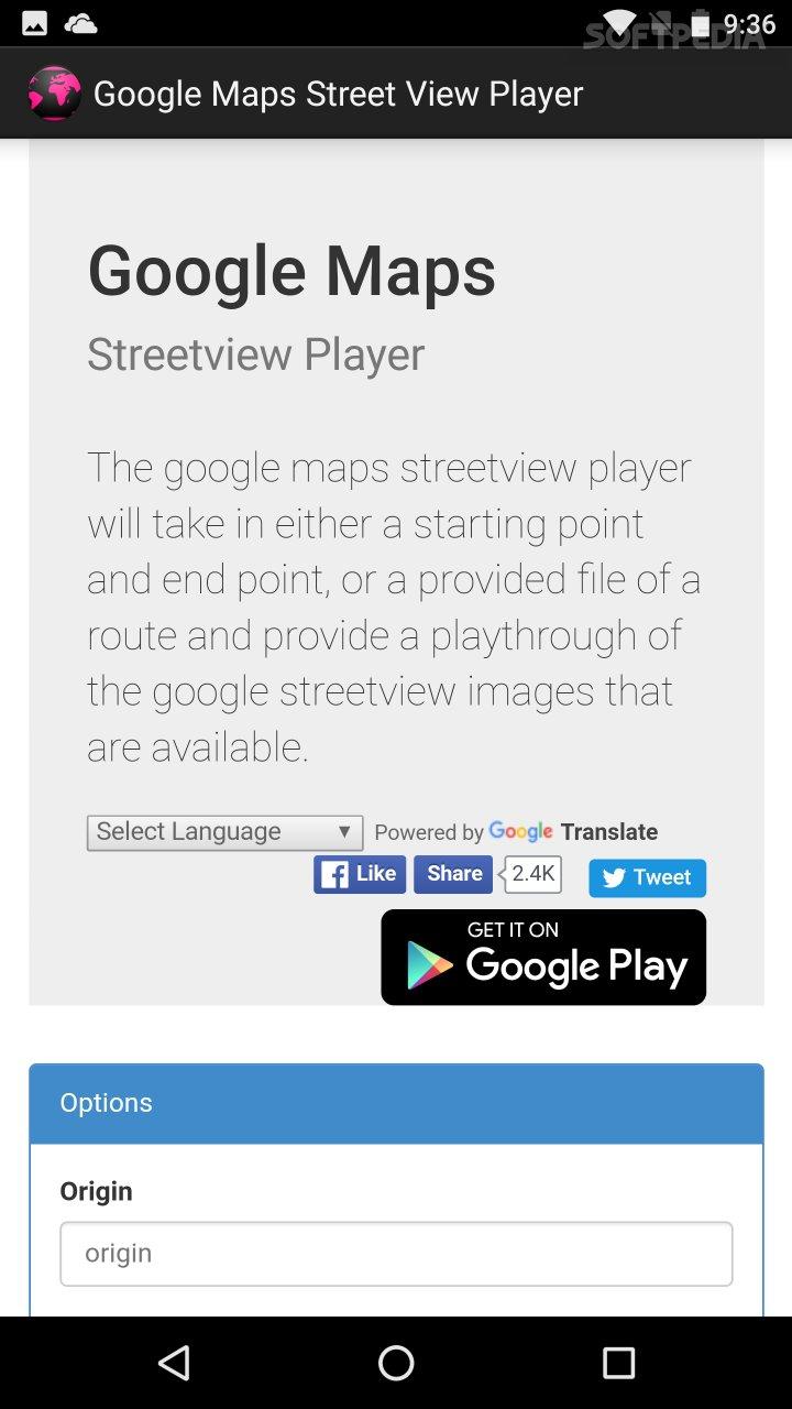 Google Maps Street View Player APK Download