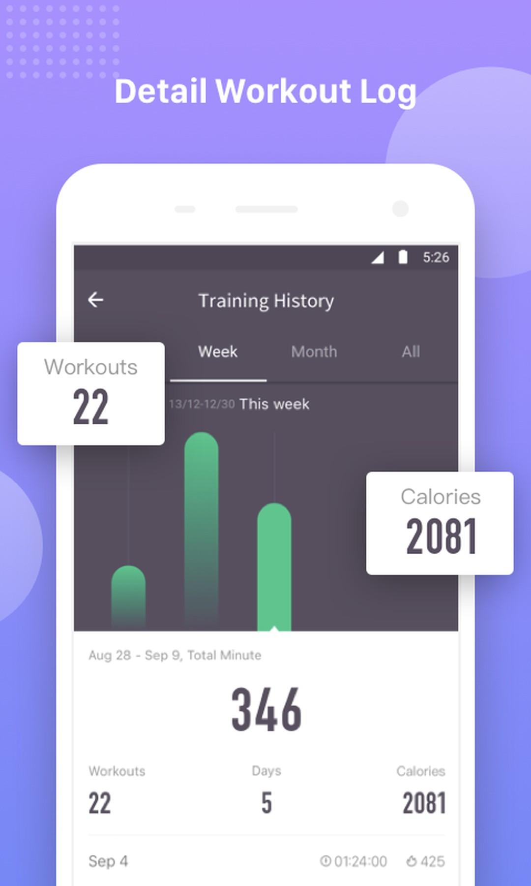 25061819952 Keep Trainer - Workout Trainer   Fitness Coach - screenshot ...
