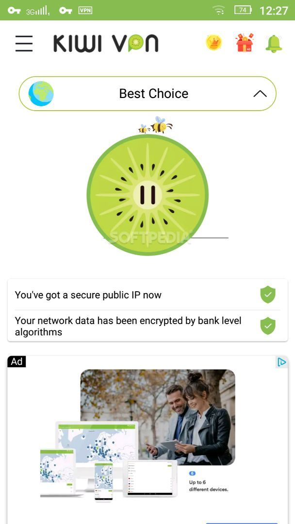 Kiwi VPN Connection For IP Changer, Unblock Sites APK Download