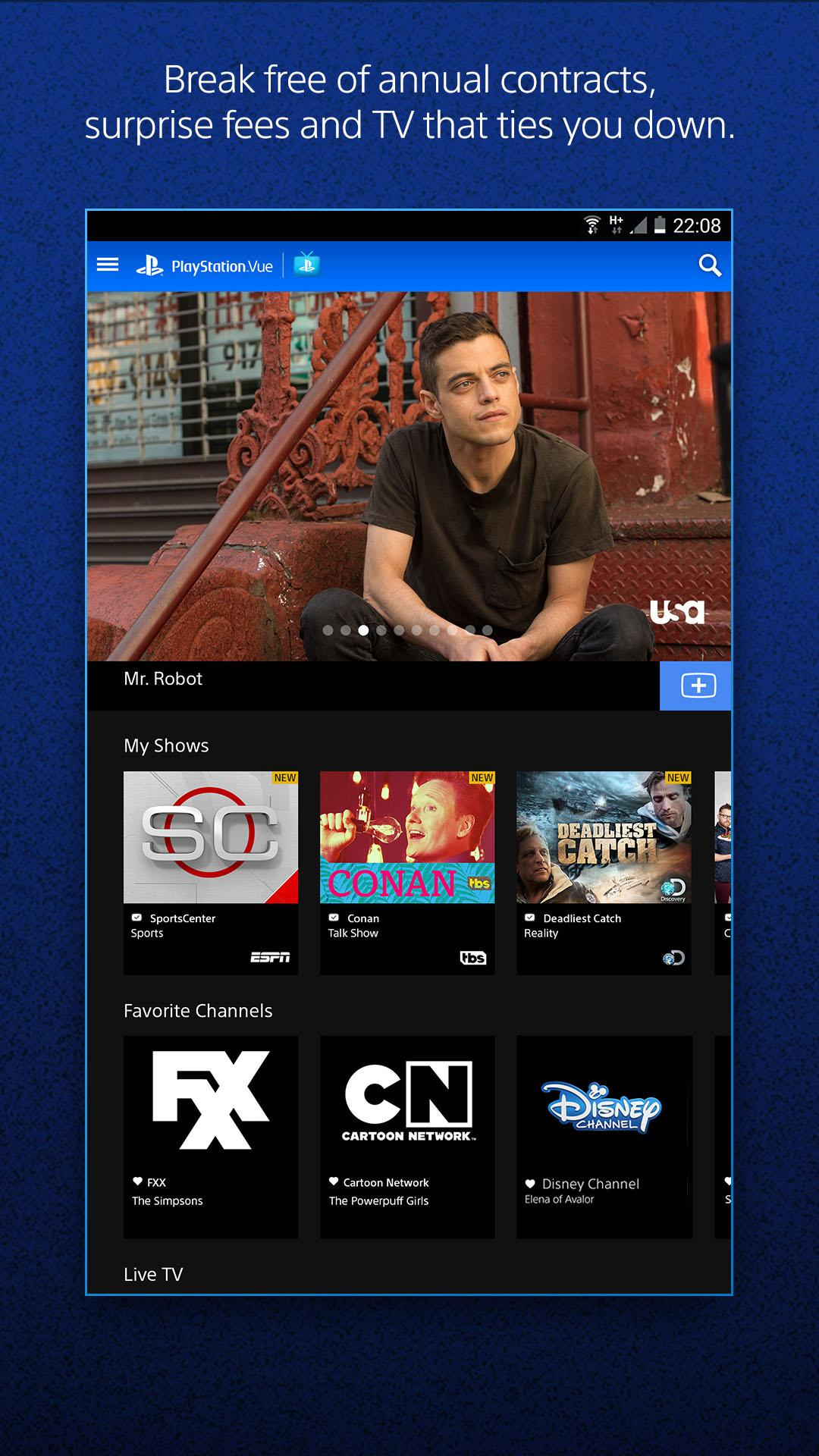 playstation vue apk android tv