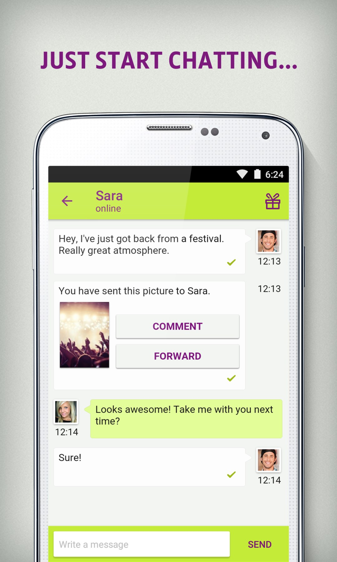 Chat flirt & dating apk