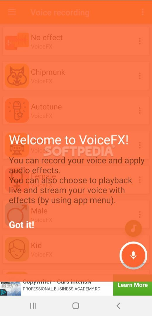 VoiceFX - Voice Changer with voice effects 1 1 5 APK Download